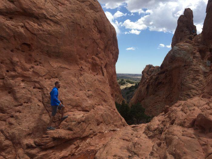 Climbing in Garden of the Gods
