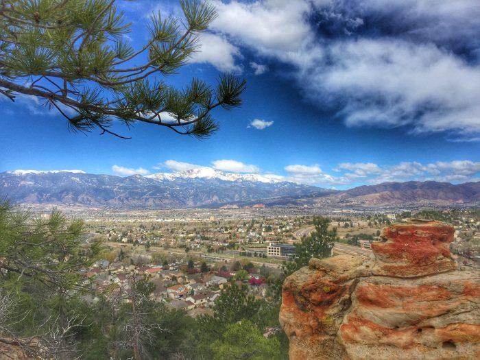 Overlooking Pikes Peak and Garden of the Gods