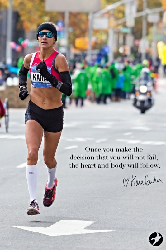Quotes from elite athletes like Kara Goucher to movitate you through marathon training - click for more