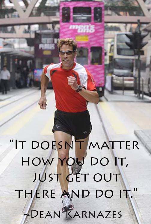 Quotes from elite athletes like Dean Karnazes to movitate you through marathon training - click for more