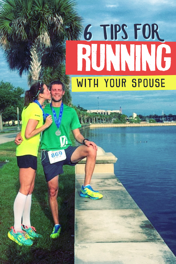 Race day or just for training these 6 tips for running with your spouse will prevent the fighting and frustration