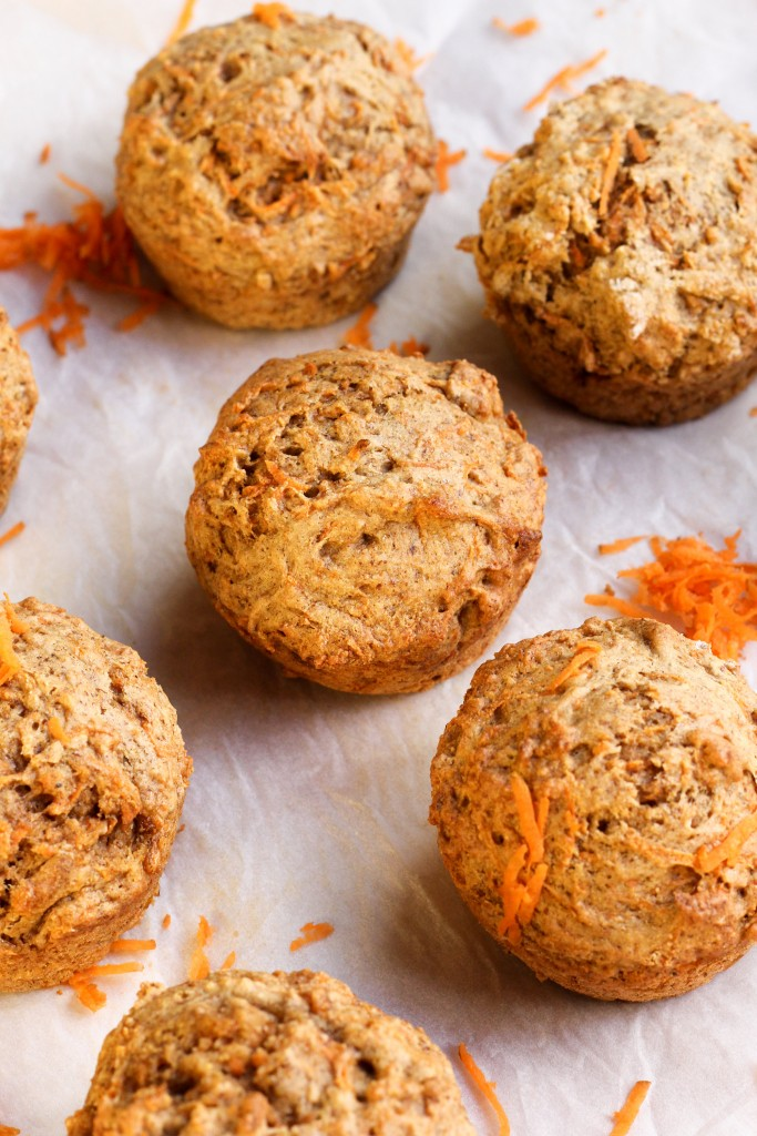 Healthy Banana Carrot Muffin recipe and other ideas for using up bananas when you've got too many!