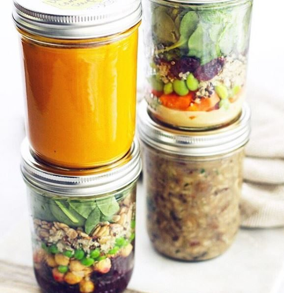 Salad jar meals are a great to go option for meal planners