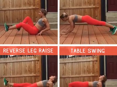Hard Core SUmmer Ab Workout - click for the full details and a 30 day ab challenge!