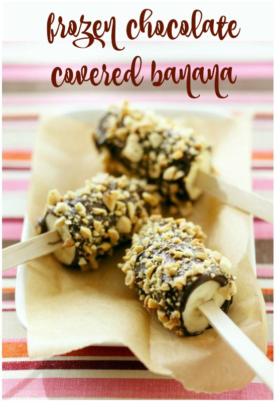Chocolate covered frozen bananas recipe - a great healthy dessert for this summer