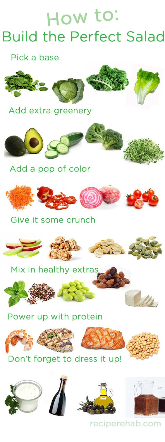 20 Quick, Healthy and Creative Salad Ideas for Lunch - RunToTheFinish