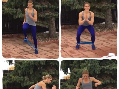 Resistance Band Workout to Improve Hip Strength for marathon training and IT Band recovery