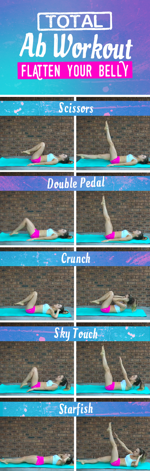 Total Ab Workout designed to flatten your belly and strengthen those deep abdominal muscles for better endruance running! Great during marathon training