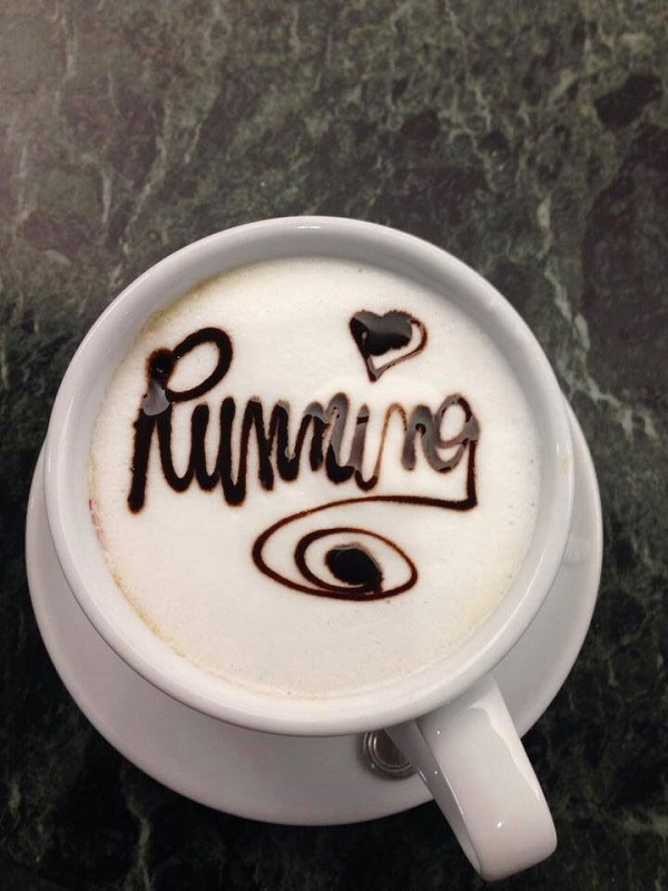 running coffee