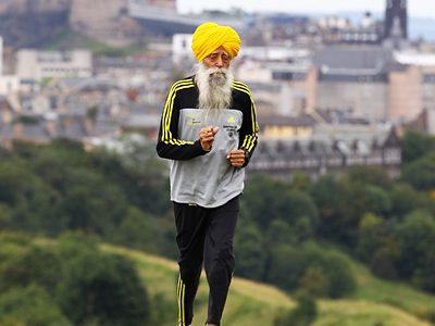 Oldest marathon finisher
