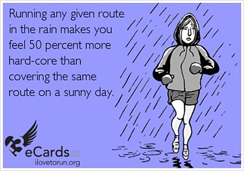 running in bad weather meme