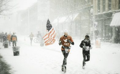Of course runners race in the snow! TIps for handling it!