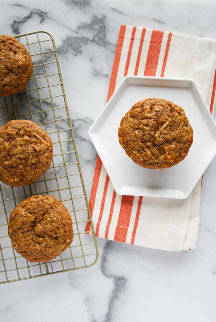 Apple Cinnamon Protein Muffins from Hungry By Nature - healthy breakfast recipe, click for more