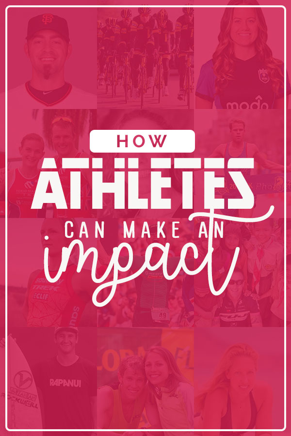 How Athletes can make an impact outside of race day