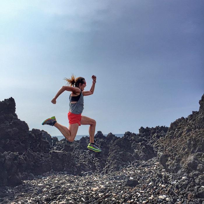 Running in Kona Hawaii
