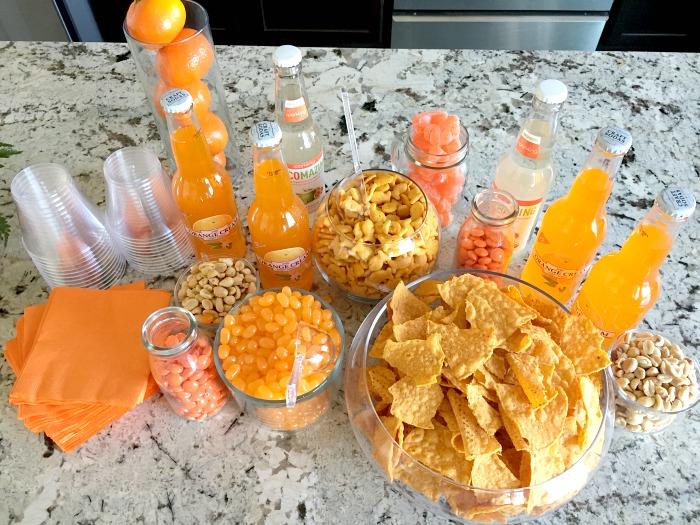 Orange candy bar idea