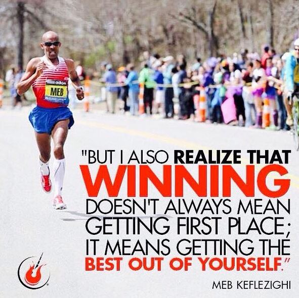 It's not always about winning or pace - great tips from Meb