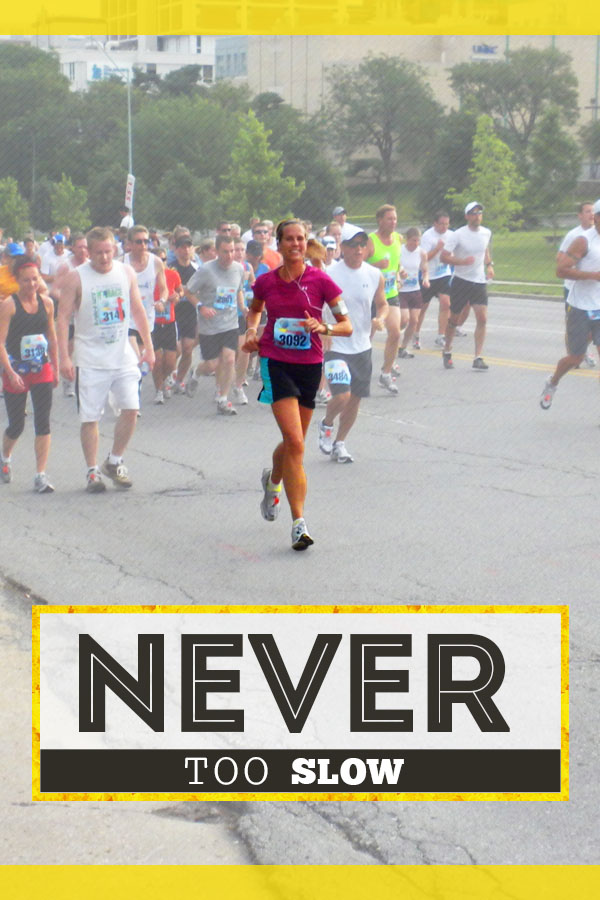 You're never too slow, old, fat or any other excuse - running builds confidence