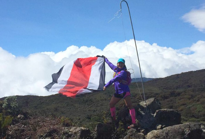 Costa rica flag at the peak