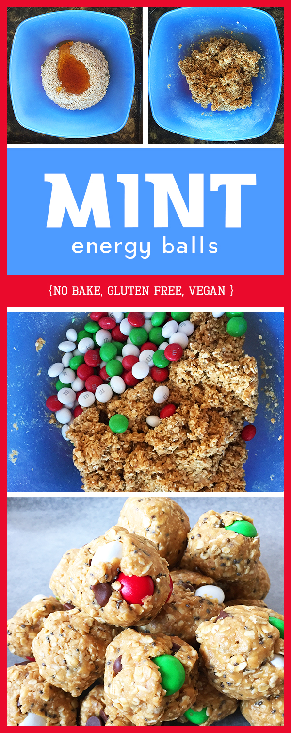 Mint energy balls -easy healthy dessert recipe or running fuel, gluten free recipe and dairy free