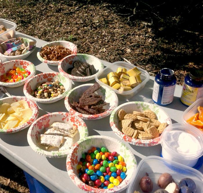 Foods at an ultramarathon aid station