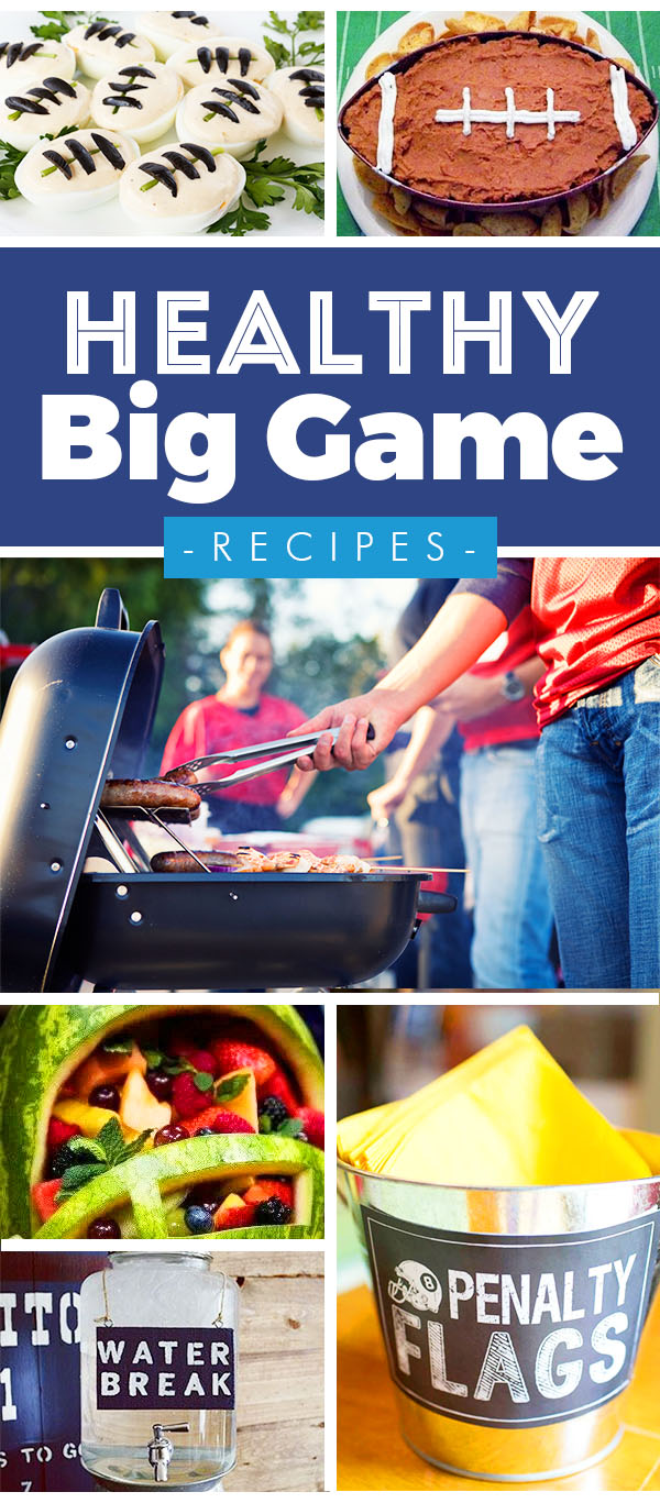 Healthy Super Bowl Food - Football themed food and party ideas for the big game