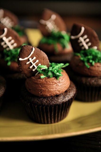 Football themed cupcake recipe for the big game - how to make it healthier too