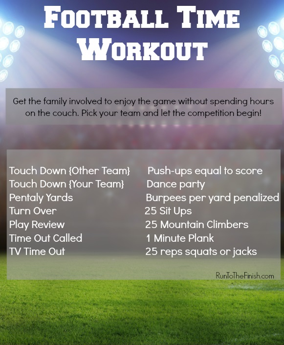 super bowl workout game