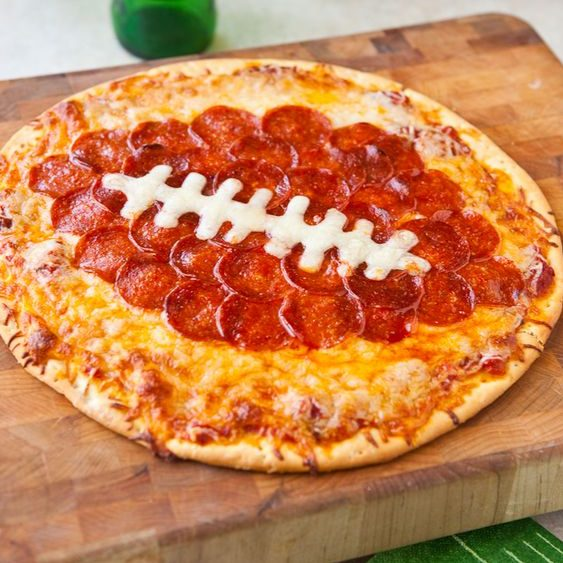Football party pizza