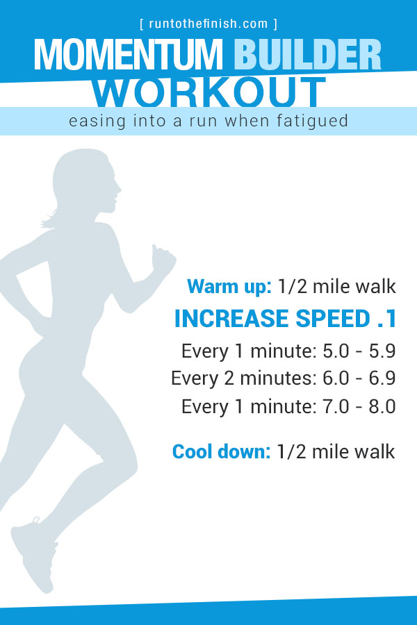 Momentum Builder Treadmill Workout - Great way to ease in to speed so that your legs are warmed up for running