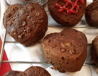 Love Bites: Hazelnut Banana Protein Muffins