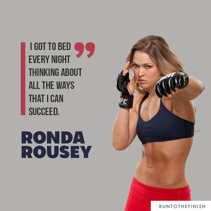 Quotes from inspiring female athletes like Ronda Rousey- click for more