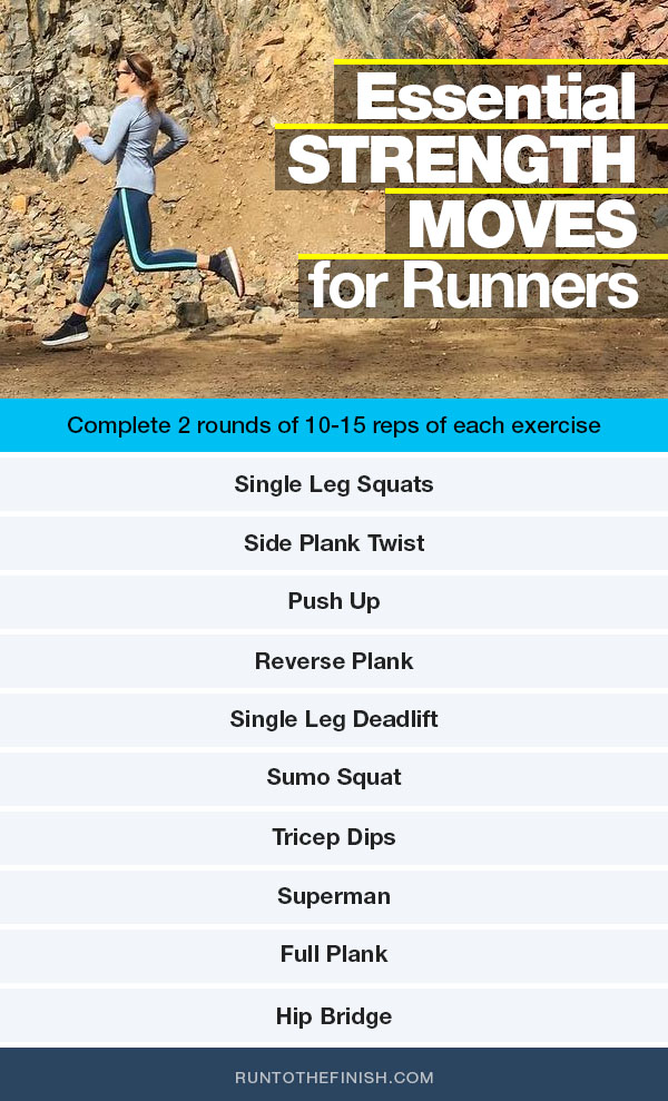 Best Strength Moves for Runners - that you can do anywhere, click for details