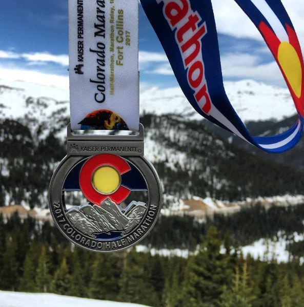Colorado Marathon medal