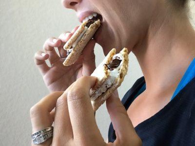 Healthy Ktichen Smores - No campfire needed dairy free dessert