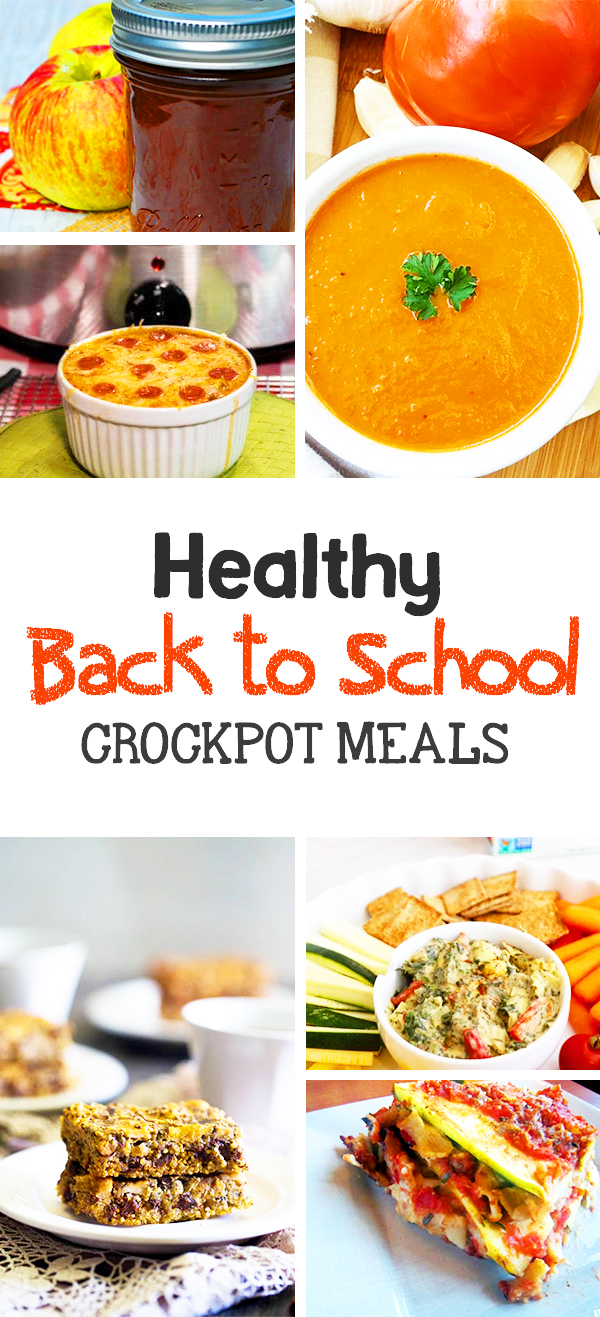 Healthy easy slow cooker meals - perfect for weeknights and back to school