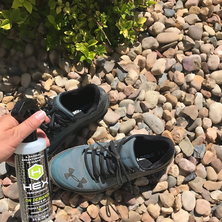 Remove odor from wet shoes