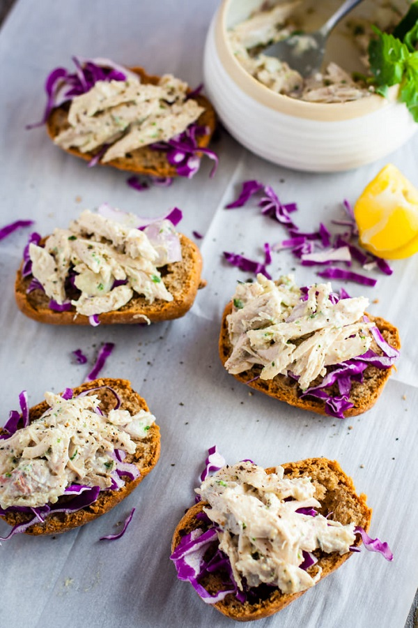 Healthy Chicken Salad Sandwich recipe - more easy healthy slow cooker meal ideas