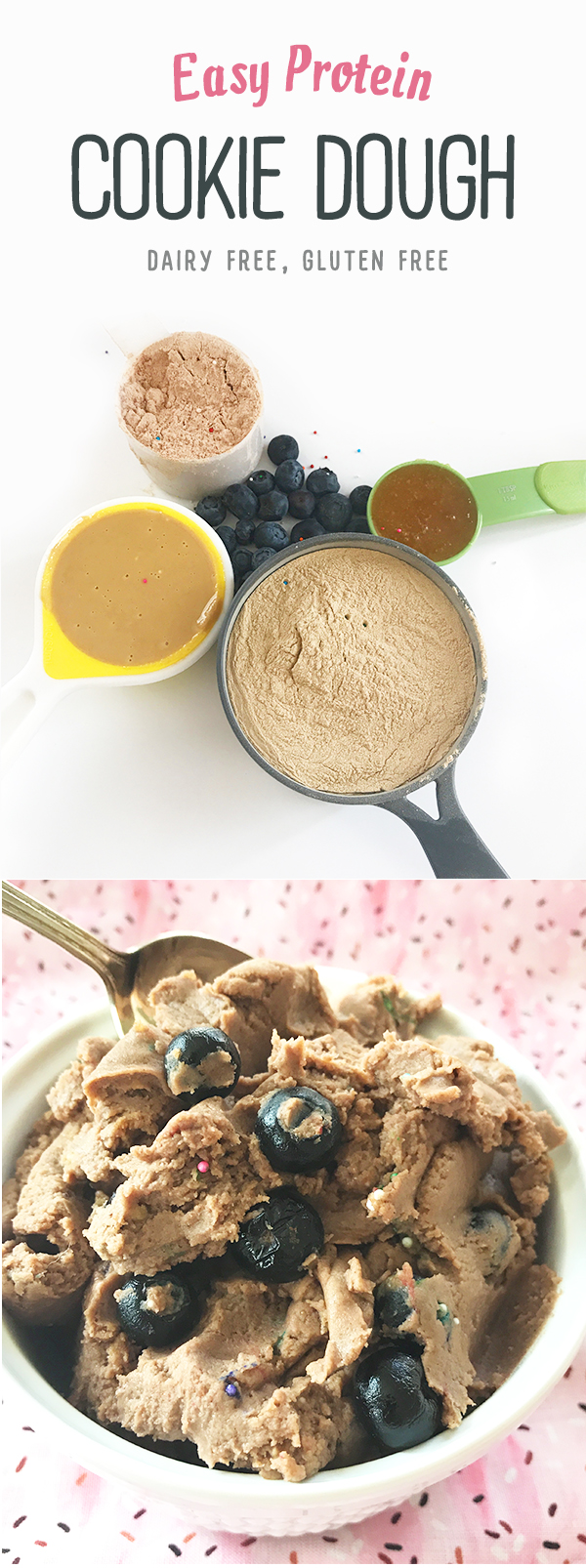 Healthy High Protein Cookie Dough - Dairy free, gluten free, plant based dessert