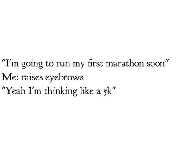 hilarious things runners think. click for more