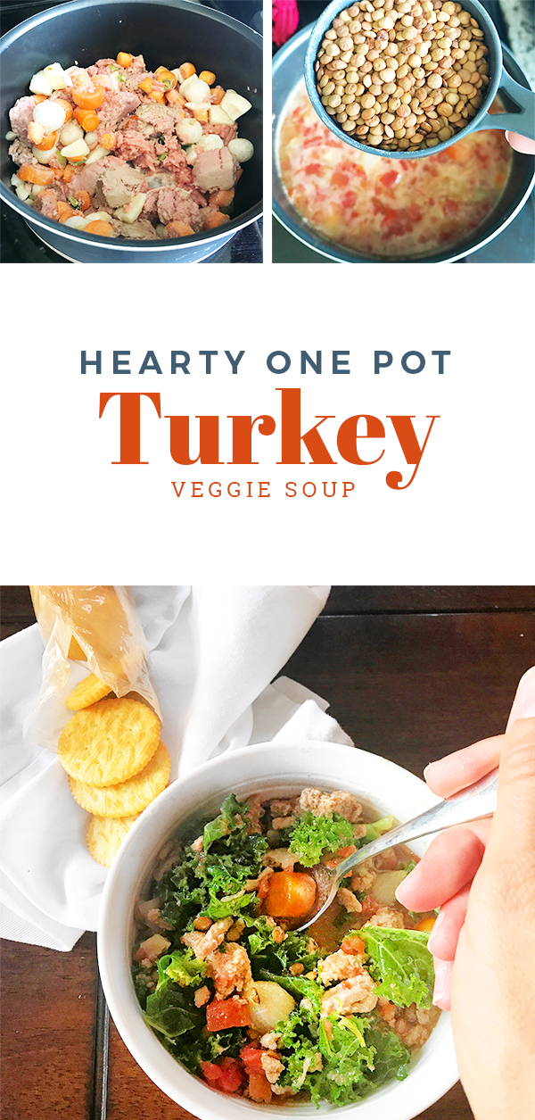 Hearty Healthy Ground Turkey Vegetable Soup - Easy one pot dinner recipe