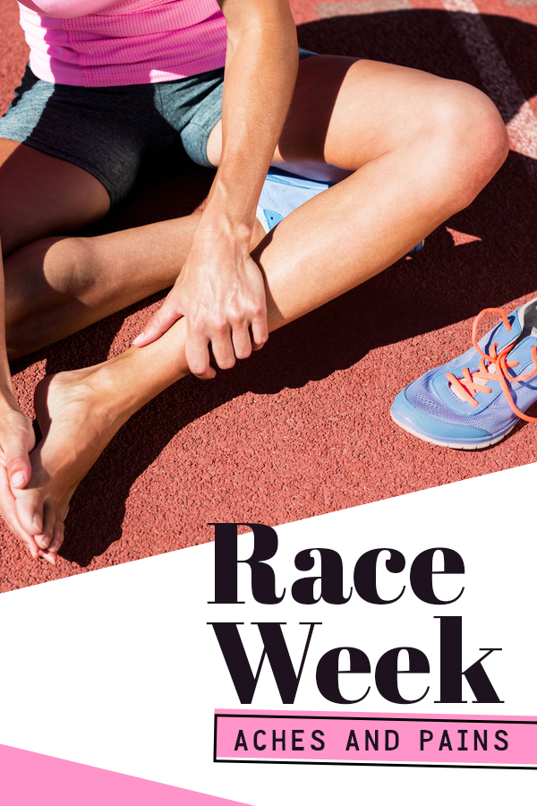 Why we have random aches and pains during race week - click to find out the cause and what to do with taper crazies