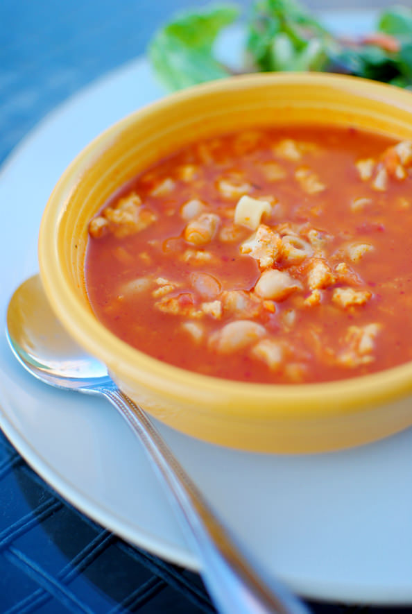 Spicy Tomato and Turkey Soup from Iowa Girl Eats