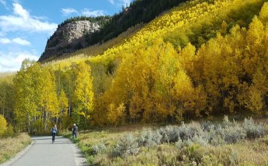 Warming with Healthy Chicken Potato Soup after the Golden Aspens
