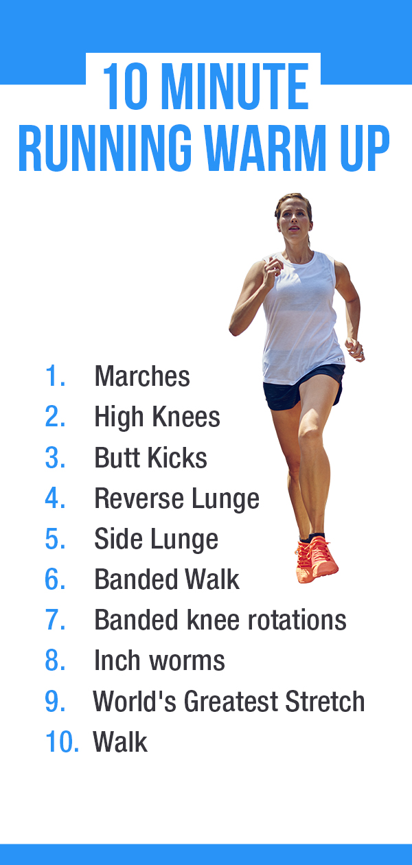 Running warm up to active glutes, improve speed and efficiency