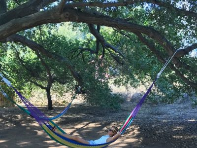 Relaxing in a hammock in Mexico