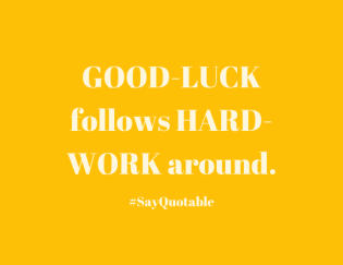 Stop Calling Your Hard Work Luck
