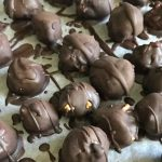 Healthy Chocolate Peanut Butter Truffles: Vegan, No Bake, 5 Ingredient Dessert