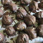 Healthy Chocolate Peanut Butter Truffles: Vegan, No Bake, 5 Ingredient Dessert