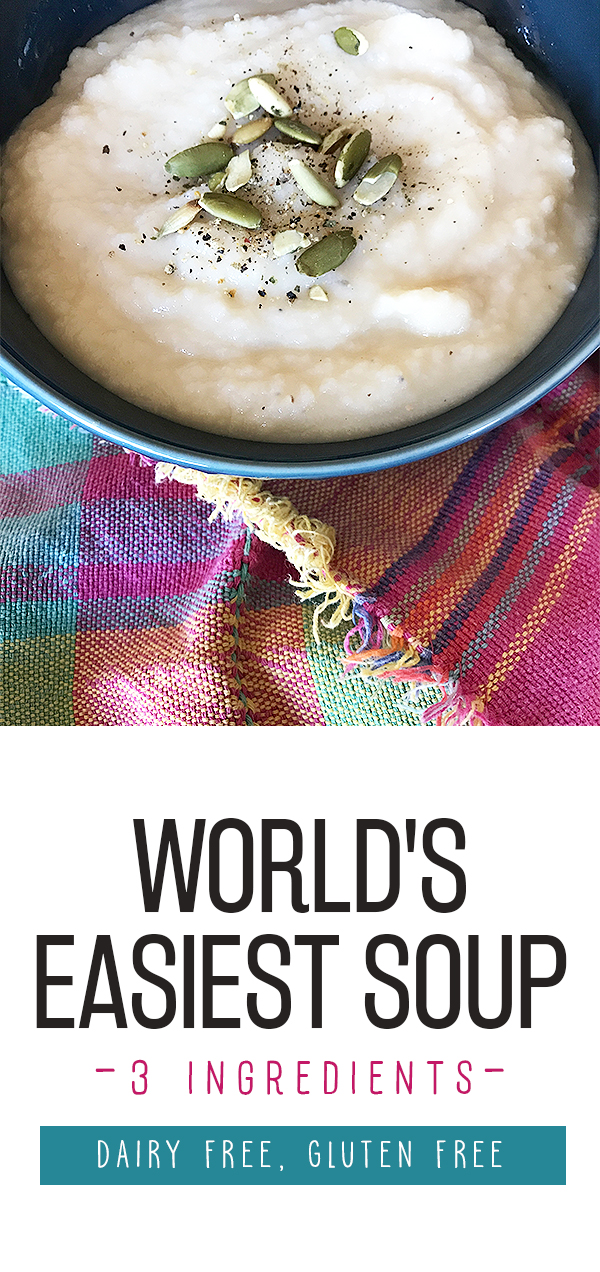 Easy healthy soup recipe - creamy white bean soup recipe, dairy free and ready in minutes